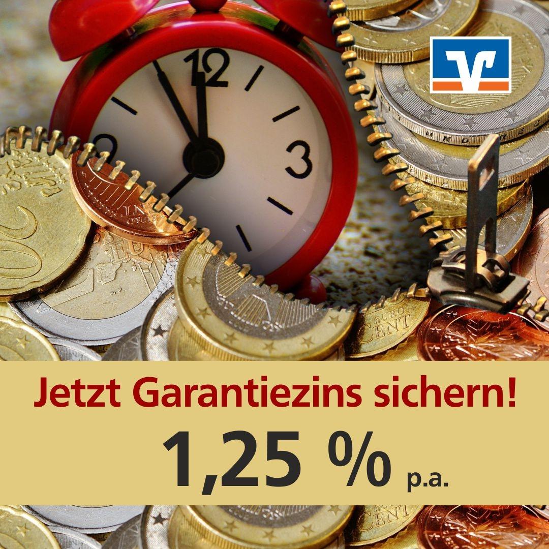 Garantiert 1,25 % Zins - bis 09.12.2016