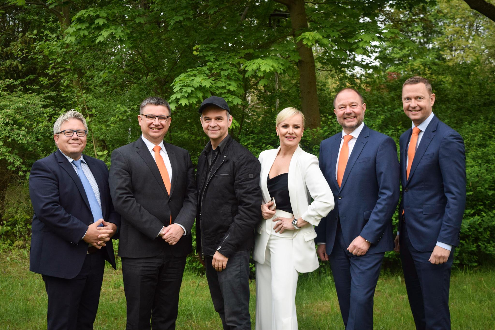 von links: Jörg Henning, Andreas Woda, Thomas Fröschle, Diana Schell, Thomas Auerswald und Christoph Kothe