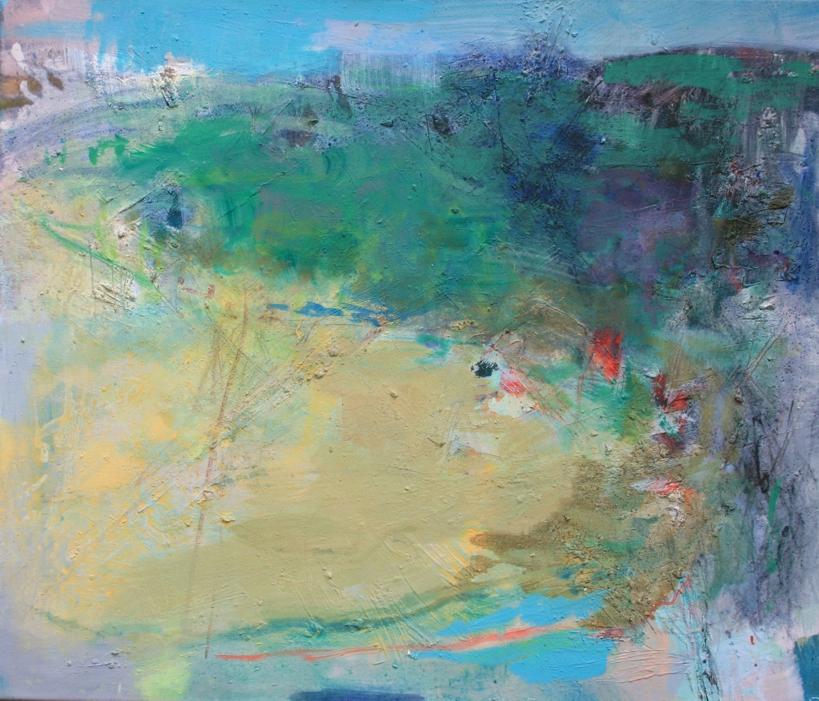 Flussbiegung, 56 x 65 cm, ÖaL, 2015