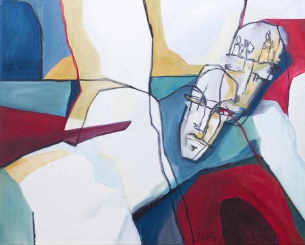 Julia Tomasi Müntz, o.T., Ölfarbe auf Leinwand, 2011, 80 x 100 cm