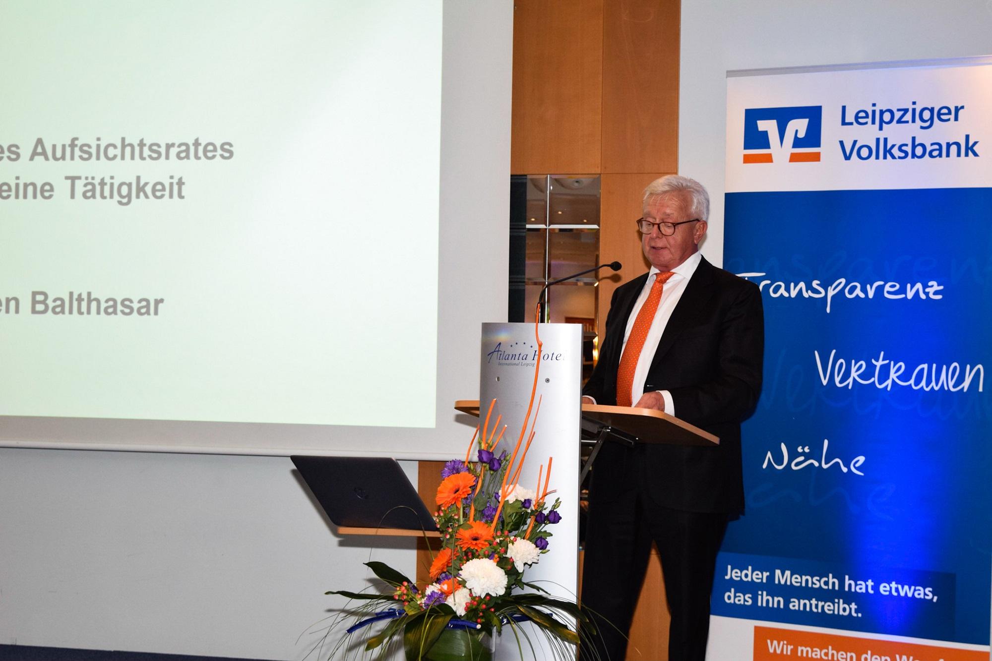 Aufsichtsratsvorsitzender Jürgen Balthasar leitete die Vertreterversammlung.
